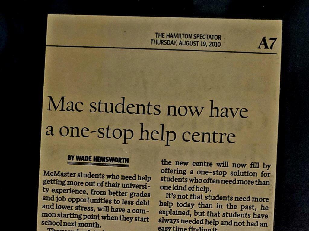 Paper copy of the original article