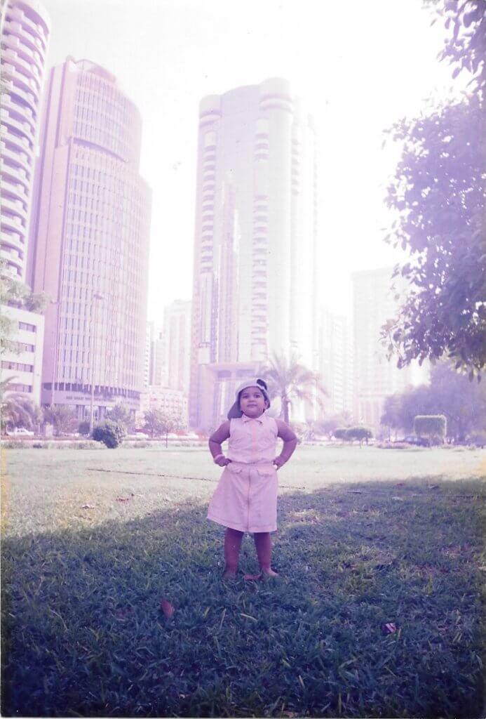 Manveetha as a kid in Dhabi