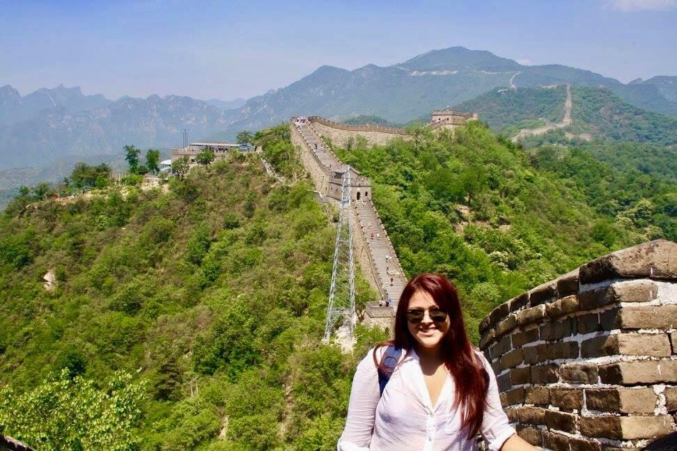 Carolyna at the Great Wall of China