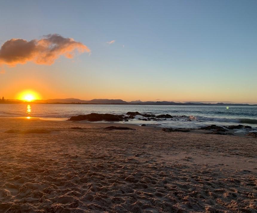 Australia beach at sunset