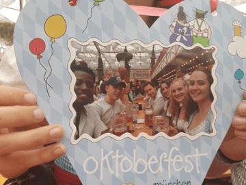Abraham and his classmates at Oktoberfest