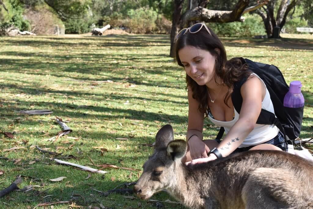 Cyra at a petting zoo