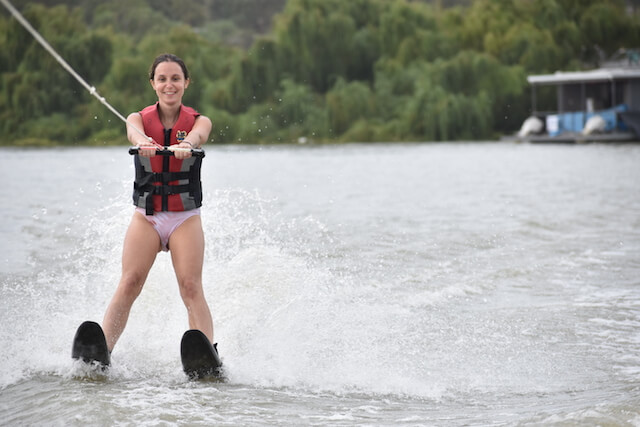 Cyra trying water sports