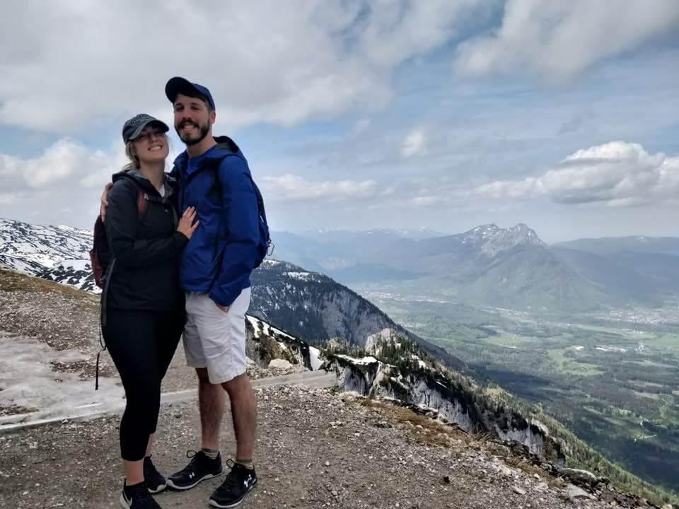 Della hiking with a friend