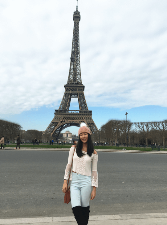 Ivy at the Eiffel Tower