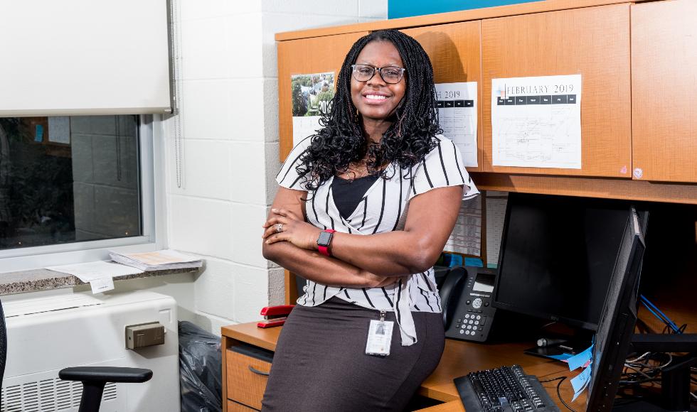 Lajipe Sanwoolu in her office