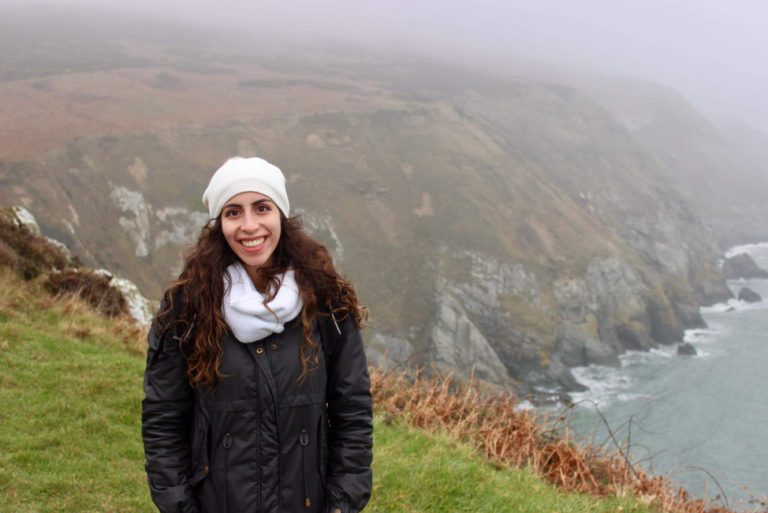 Meena in an Ireland landscape