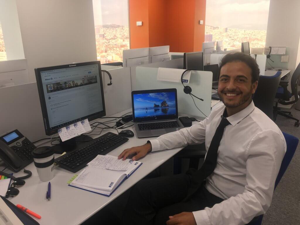 Nadeem at an office