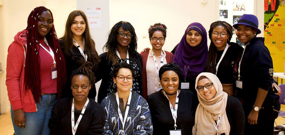 Nadia with her model un team