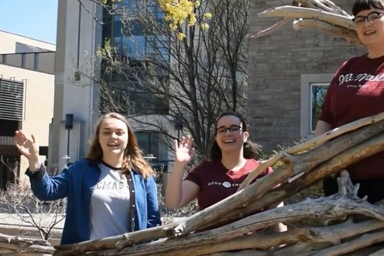 Students in the McMaster boat