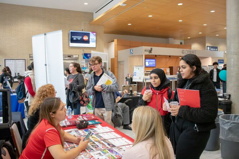 Students at Further Education Fair