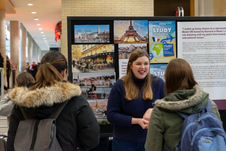 Students at Exchange Fair