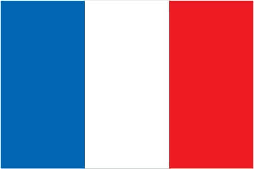 Flag of France (three equal vertical bands of blue (hoist side), white and red)