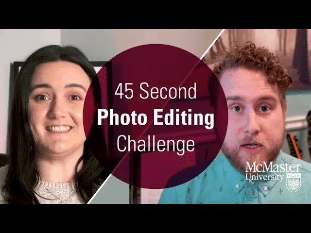 45 Second Photo Editing Challenge.