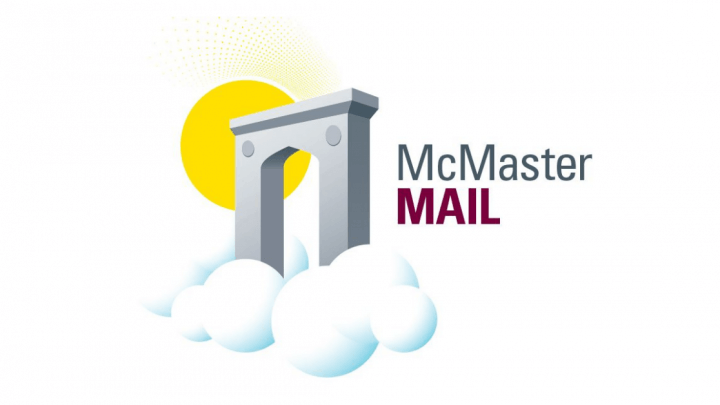 McMaster Mail. Edwards Arch graphic in a cloud.