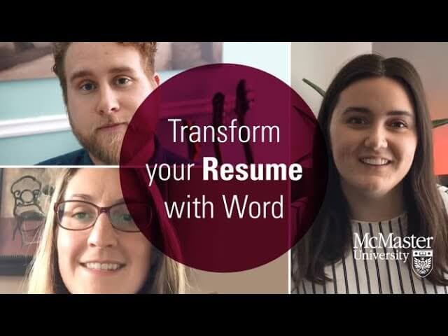 Transform Your Resume with Word.