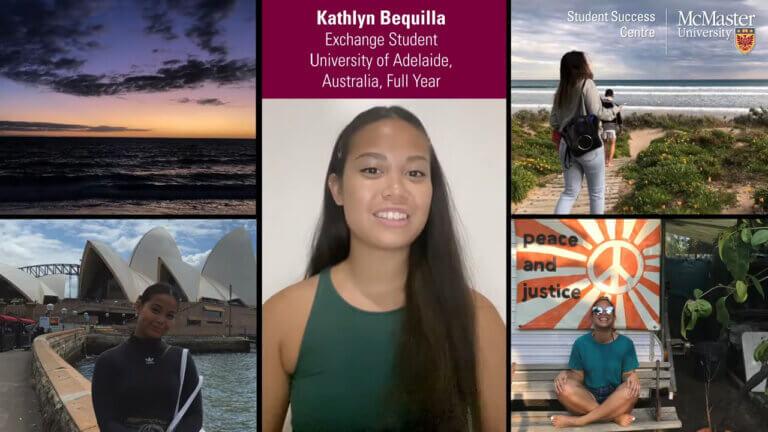 Kathlyn Bequilla, exchange student, with photos of Australia.